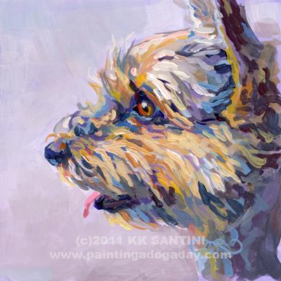 """Tootsie"" original fine art by Kimberly Santini"
