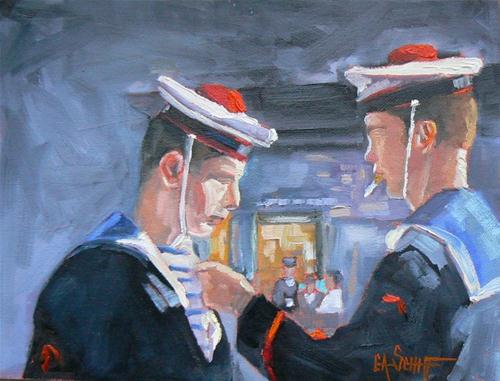 """Final Inspection"" original fine art by Carol Schiff"