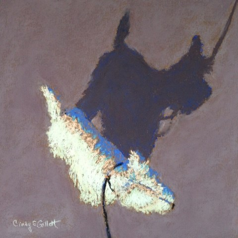 """Little Buddy 2"" original fine art by Cindy Gillett"