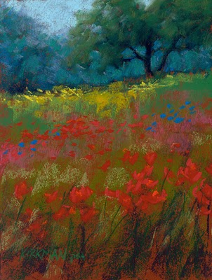 """Wildflower Fields #31"" original fine art by Rita Kirkman"