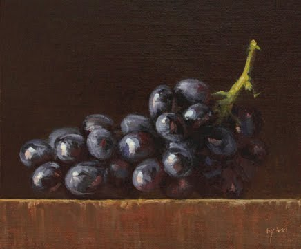 """Grapes in Afternoon Sun No. 2"" original fine art by Abbey Ryan"