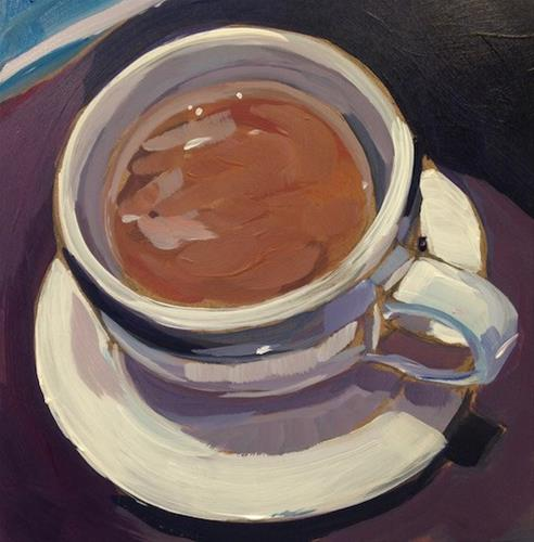 """Coffee from Cafe Maude"" original fine art by Kat Corrigan"
