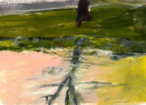 """Tree Reflection At Sunset"" original fine art by Donna Crosby"