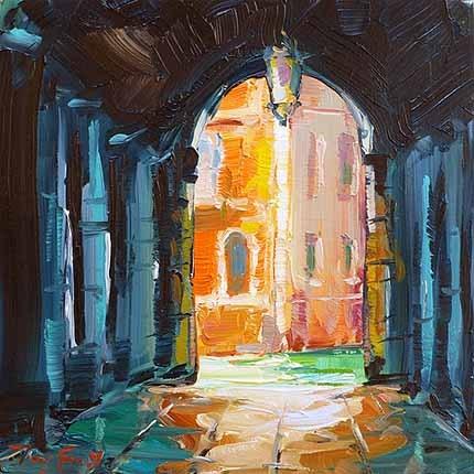 """Venedig"" original fine art by Jurij Frey"