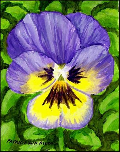 """One Happy Face Pansy"" original fine art by Patricia Ann Rizzo"