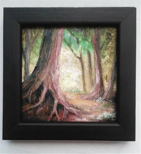 """""""Forest Trees, Framed"""" original fine art by Camille Morgan"""
