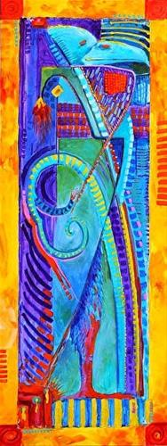 """Contemporary Abstract Bird Painting Bird Totem 1 by Colorado Artist Nancee Jean Busse"" original fine art by Nancee Busse"