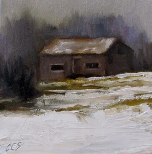 """Old Farm Building"" original fine art by ~ces~ Christine E. S. Code"