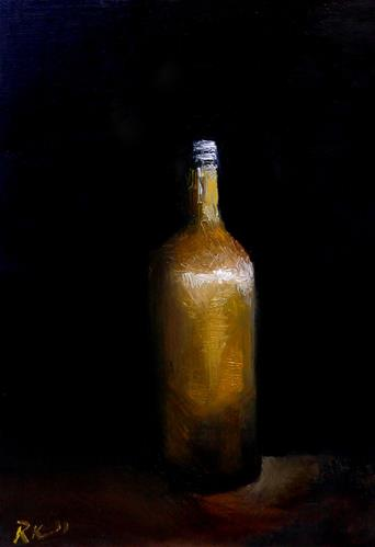 """An Old Brown Bottle"" original fine art by Bob Kimball"
