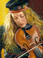 """The Violinist"" original fine art by Rita Kirkman"