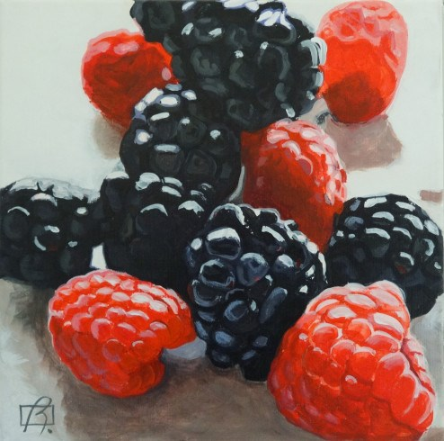 """Petits Fruits"" original fine art by Andre Beaulieu"