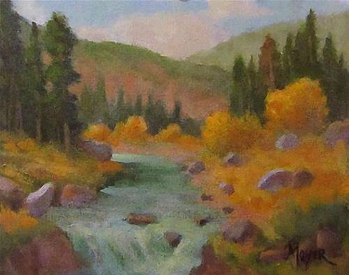 """Mores Creek"" original fine art by Jim Moyer"