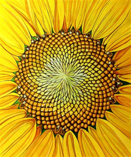 """Fibonacci Flower"" original fine art by Patti Adams"