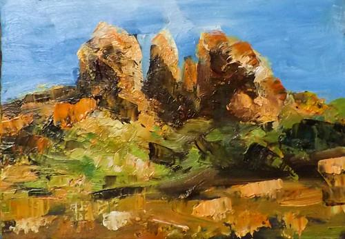 """Landscape,s23"" original fine art by Run-      Zhang Zane"