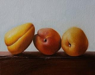 """Nectarines 3"" original fine art by Jonathan Aller"