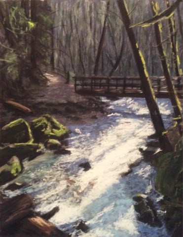 """The Bridge Over Troubled Waters"" original fine art by Marti Walker"