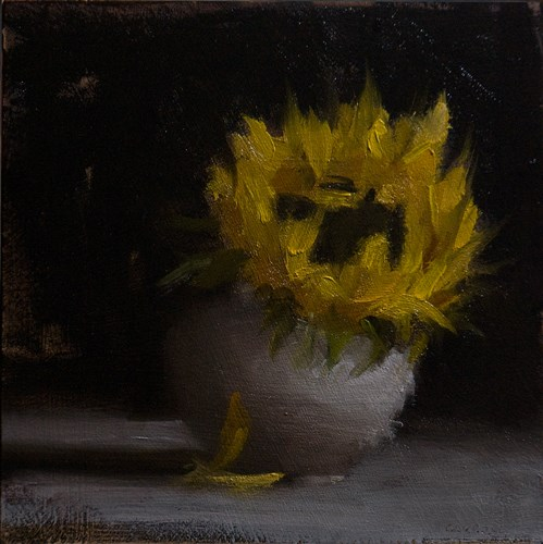 """Sunflower"" original fine art by Neil Carroll"