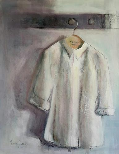 """White coat"" original fine art by Rentia Coetzee"