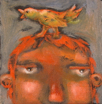 """'Bird Brain"" original fine art by Brenda York"