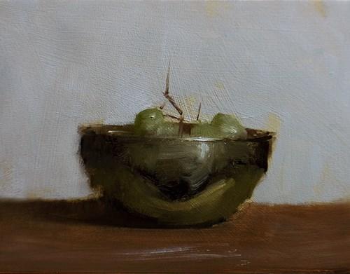 """Bowl of Grapes"" original fine art by Neil Carroll"