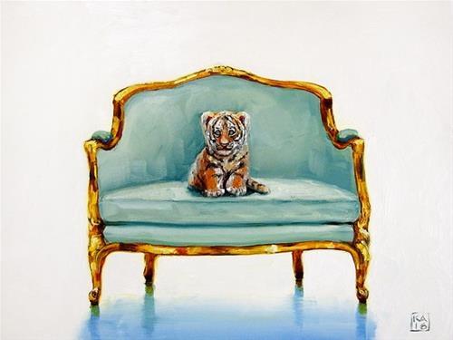 """""""little roar"""" original fine art by Kimberly Applegate"""