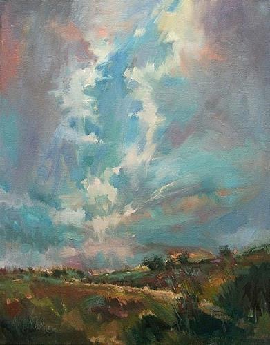 """""""Sun Break- painting demonstration slideshow"""" original fine art by Mary Maxam"""