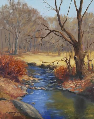 """Maple by the Creek in Spring"" original fine art by Jamie Williams Grossman"
