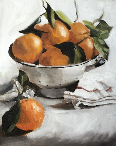 """""""Satsumas"""" original fine art by James Coates"""
