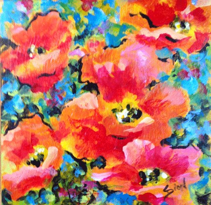 """Rhumba"" original fine art by Sue Dion"