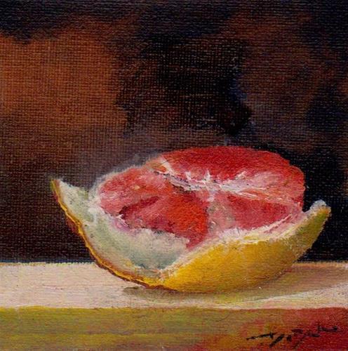 """""""grapefruit"""" original fine art by V. DeBak"""
