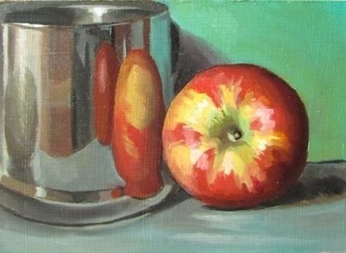 """28 - Three Apples"" original fine art by Ed Watson"