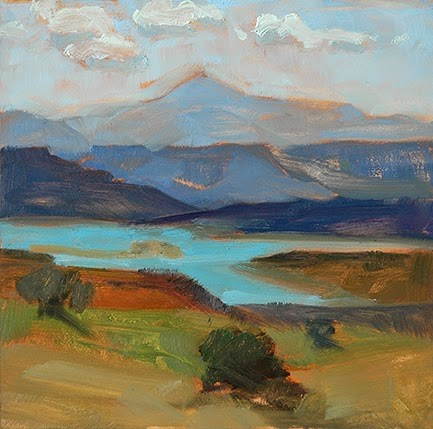 """Ghost Ranch No. 1"" original fine art by Miriam Hill"