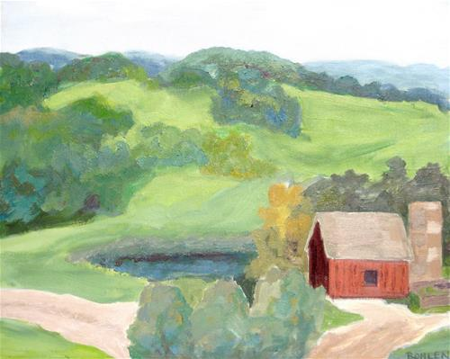 """Wyebrook Farm"" original fine art by Priscilla Bohlen"