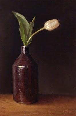 """""""Tulip in a Bottle"""" original fine art by Abbey Ryan"""