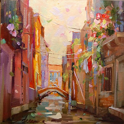 """""""Venice Time SOLD"""" original fine art by Dreama Tolle Perry"""