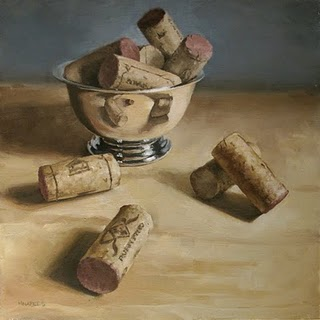 """Spilled Corks"" original fine art by Michael Naples"