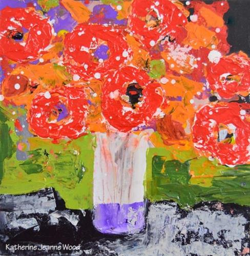 """Floral painting series no 68"" original fine art by Katie Jeanne Wood"