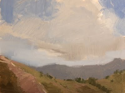 """Rocks & Ridges"" original fine art by Laurel Daniel"