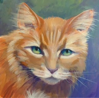 """Max, The Red Menace"" original fine art by Lyn Gill"