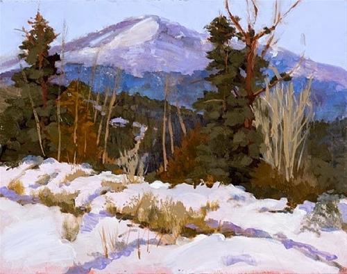 """Colorado Landscape Oil Painting Pikes Peak Winter View by Colorado Landscape Artist Susan Fowler"" original fine art by Susan Fowler"